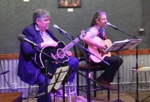 Steve Minotti and Scott Goldblatt at the Brewhouse